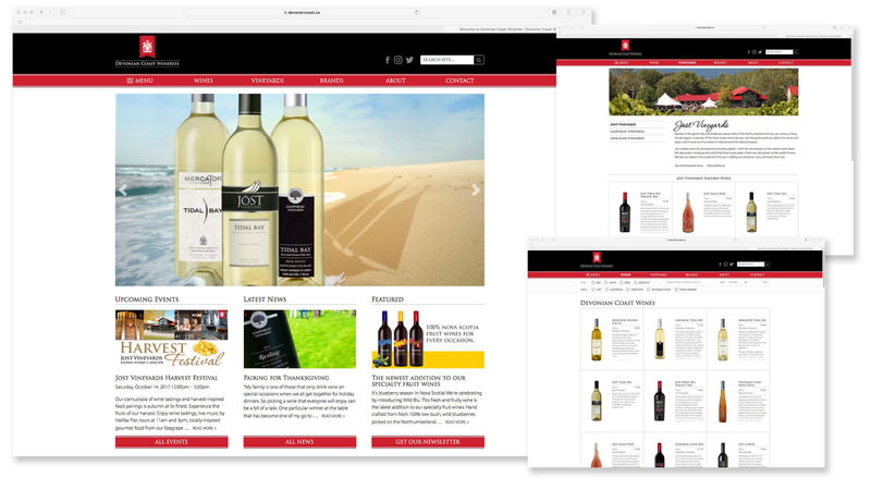 Devonian Coast Wineries website